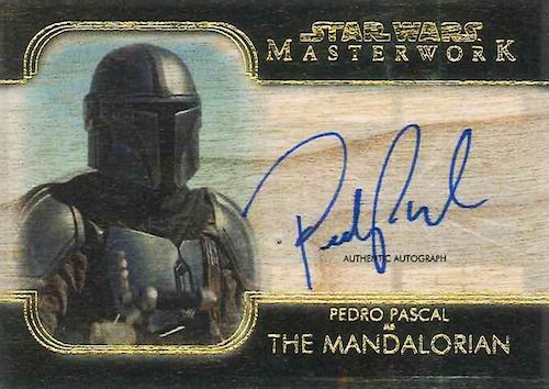 2020 Topps Star Wars Masterwork Trading Cards - Pedro Pascal Autographs 3