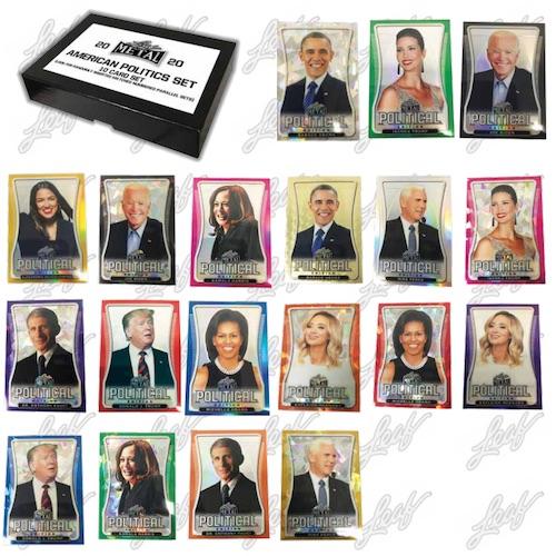 2020 Leaf Metal American Politics Set Trading Cards - Checklist Added 3