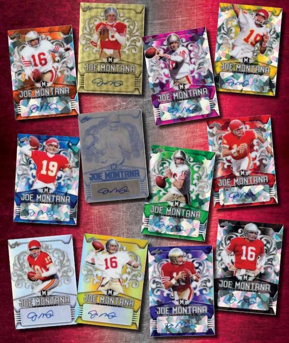 2020 Leaf Metal Joe Montana Collection Football Cards 4