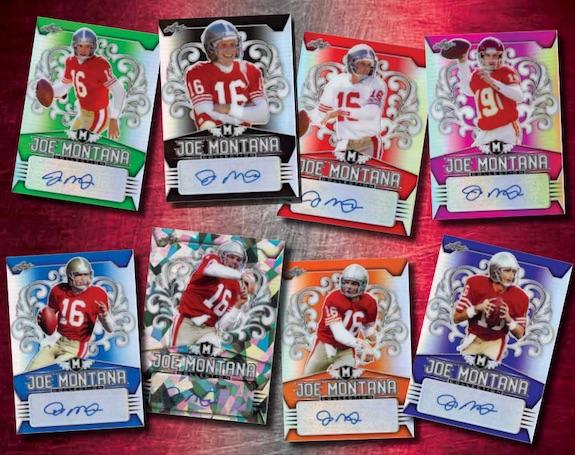 2020 Leaf Metal Joe Montana Collection Football Cards 3
