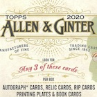 2020 Topps Allen & Ginter Baseball Cards