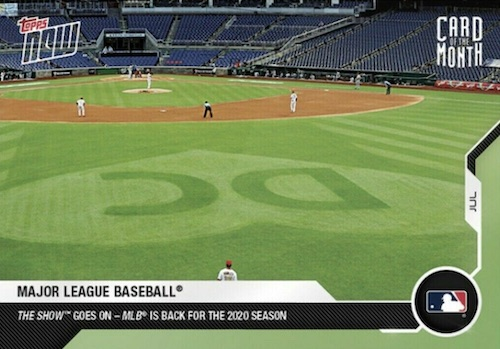 2020 Topps Now Card of the Month Baseball Cards Gallery and Checklist 2