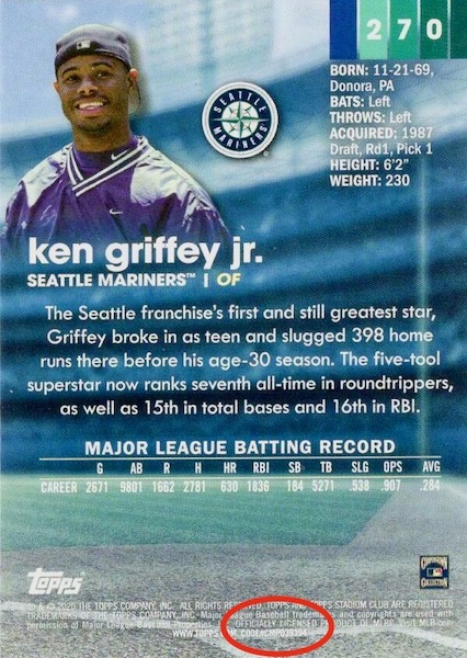 2020 Topps Stadium Club Baseball Variations Checklist and Gallery 1