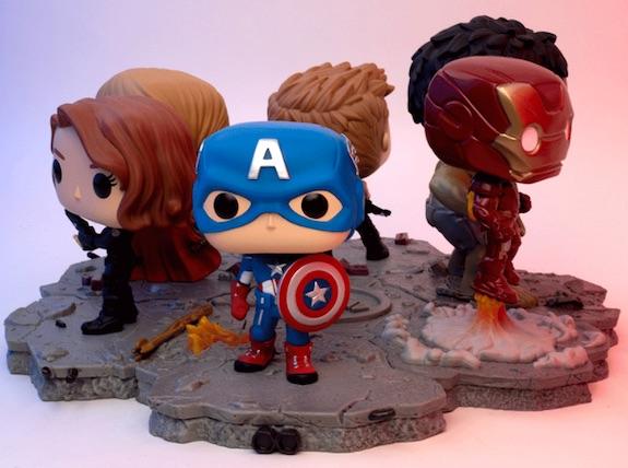 Funko Pop Avengers Deluxe Set Figures - Victory Shawarma & Avengers Assemble Series 1