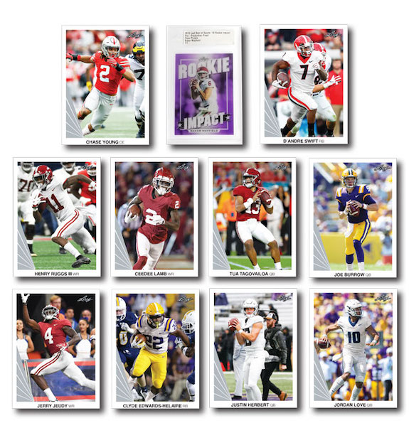 2020 Leaf Football Retail Trading Cards 1