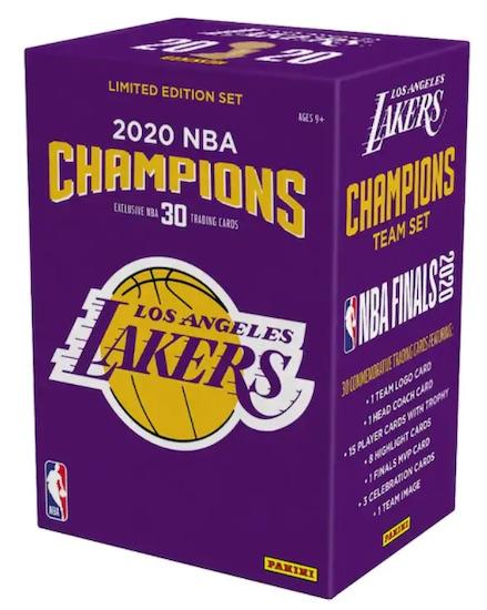 2020 Panini Los Angeles Lakers NBA Champions Team Set Basketball Cards - Checklist Added 3