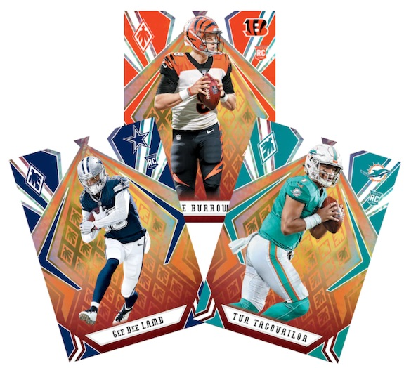 2020 Panini Phoenix Football Factory Set Fanatics Cards 3