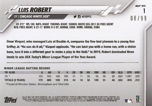 2020 Topps MLB NYC Store Exclusive Baseball Cards 2