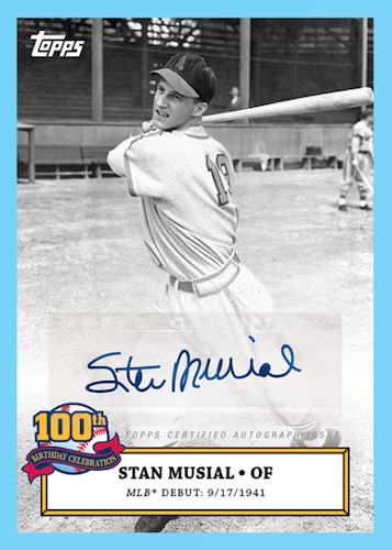 2020 Topps Stan Musial 100th Birthday Celebration Baseball Cards 3