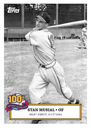 2020 Topps Stan Musial 100th Birthday Celebration Baseball Cards 1