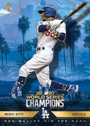 2020 Topps x Ben Baller Los Angeles Dodgers World Series Champions Cards 1