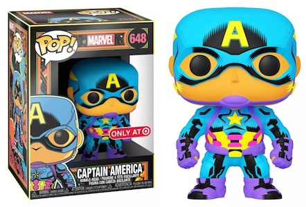 Funko Pop Marvel Black Light Figures 1