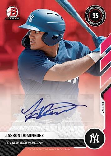 2020 Bowman Next Baseball Cards - 2021 Top Prospects Wave 4 Checklist 2