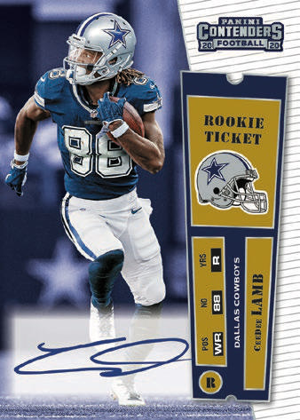 2020 Panini Contenders Football Cards - Final SP/SSP Ticket Checklist 9
