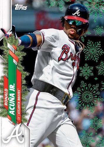 2020 Topps Holiday Baseball Mega Box Cards 3