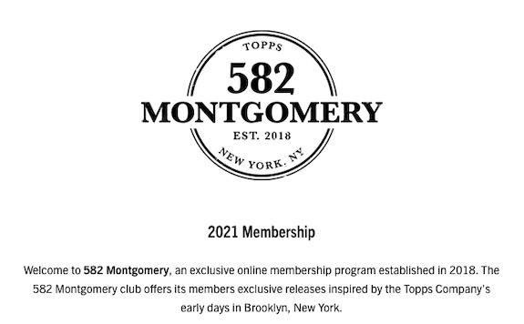 2021 Topps 582 Montgomery Club Baseball Cards - Membership Open 1