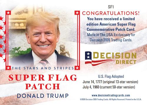 2020 Decision Direct Holiday Factory Set Political Trading Cards 3