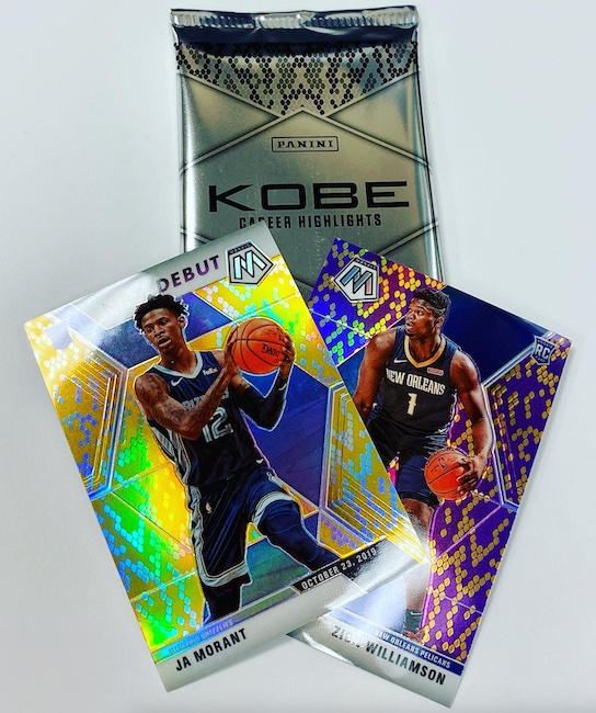 2020 Panini Kobe Bryant Career Highlights Redemption Packs Basketball Cards 2