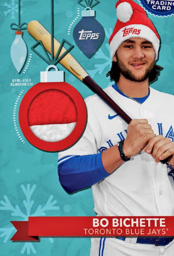 2020 Topps Holiday Baseball Mega Box Cards 4