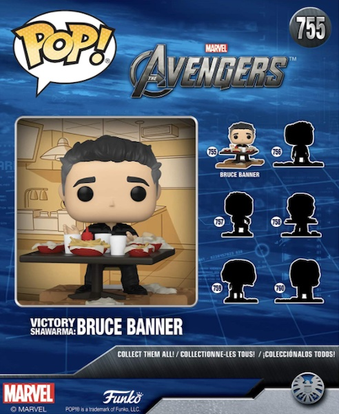 Funko Pop Avengers Deluxe Set Figures - Victory Shawarma & Avengers Assemble Series 2