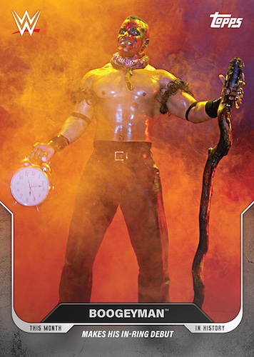 Topps This Month in WWE History Wrestling Cards 1