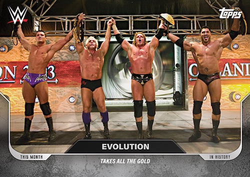 Topps This Month in WWE History Wrestling Cards 3