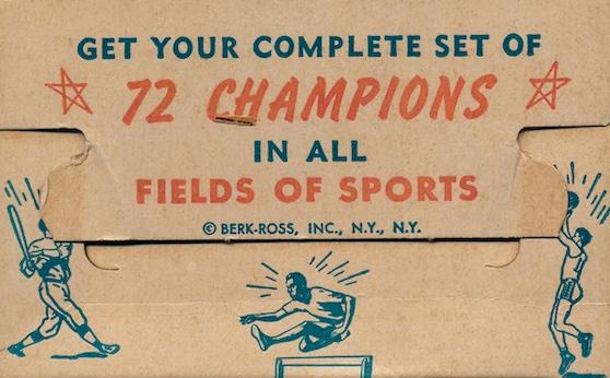 1952 Berk Ross Baseball Cards 6