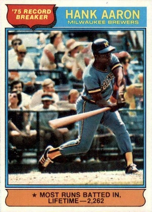 Vintage Topps Hank Aaron Baseball Cards Showcase Gallery and Checklist 63