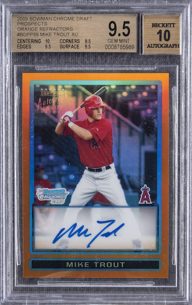 Top Mike Trout Card Sales of 2020 5