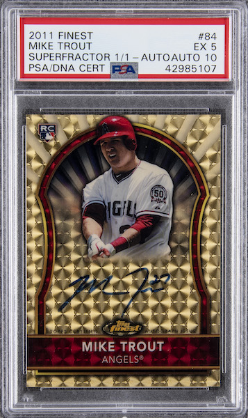 Top Mike Trout Card Sales of 2020 12
