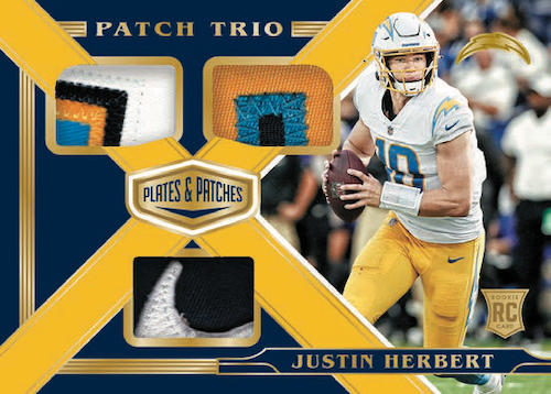 2020 Panini Plates & Patches Football Cards 11