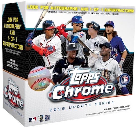 2020 Topps Chrome Update Series Baseball Cards 4