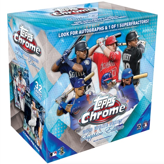 2020 Topps Chrome Update Series Sapphire Edition Baseball Cards 4