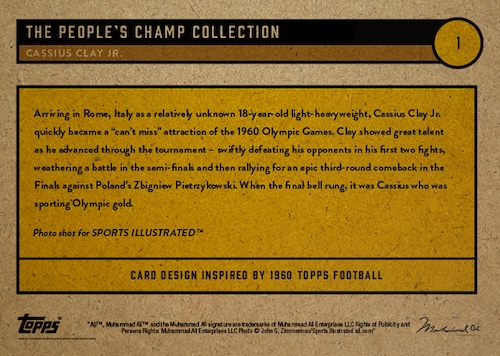 2021 Topps Muhammad Ali The People's Champ Collection Cards Checklist 2