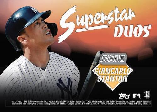 2021 Topps Stadium Club Baseball Cards - Checklist Added 8