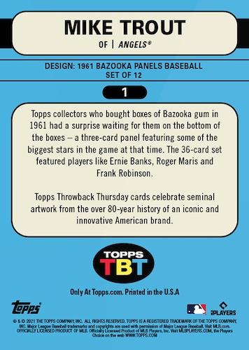2021 Topps Throwback Thursday Baseball Cards - Set 18 3