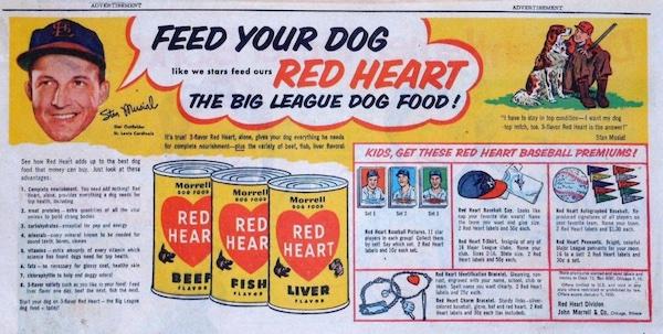 1954 Red Heart Baseball Cards 3