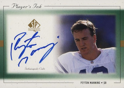 Top Peyton Manning Autograph Cards to Collect 8