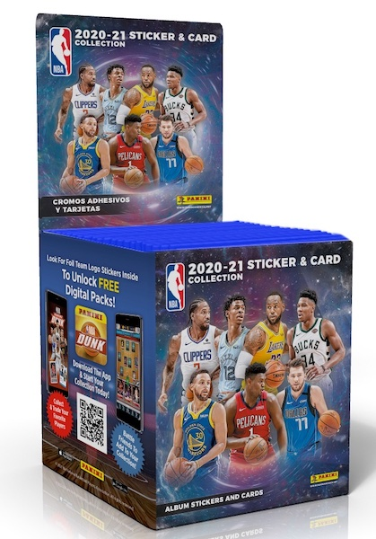 2020-21 Panini NBA Sticker & Card Collection Basketball Cards 3
