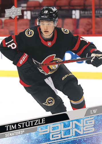 2020-21 Upper Deck Series 2 Hockey Cards - Young Guns Checklist 22