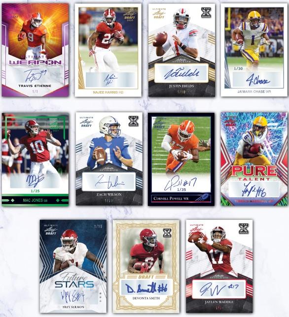 2021 Leaf Ultimate Draft Football Cards 3