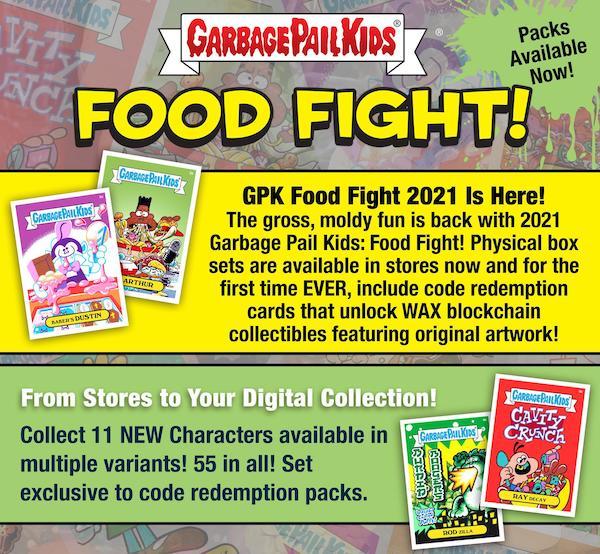 2021 Topps Garbage Pail Kids Food Fight GPK Series 1 Trading Cards 9