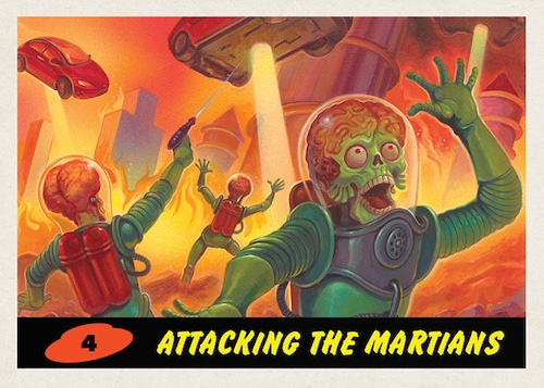 2021 Topps Mars Attacks Exclusive Trading Cards - Invasion 2026 2