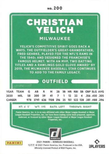 2021 Donruss Baseball Variations Gallery and Checklist 49