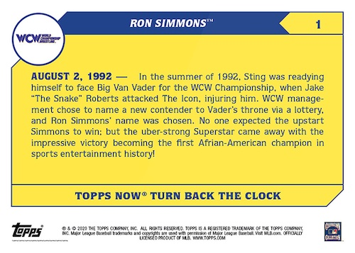 2021 Topps Now WWE Wrestling Cards - Turn Back the Clock 3