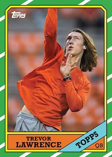 2021 Topps X Trevor Lawrence Football Cards Checklist 8
