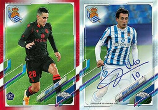 2020-21 Topps Chrome X Real Sociedad Soccer Cards 3