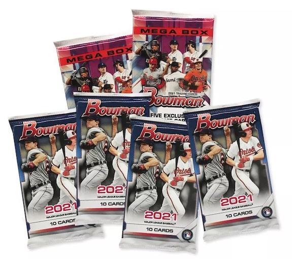 2021 Bowman Mega Box Chrome Baseball Cards 4