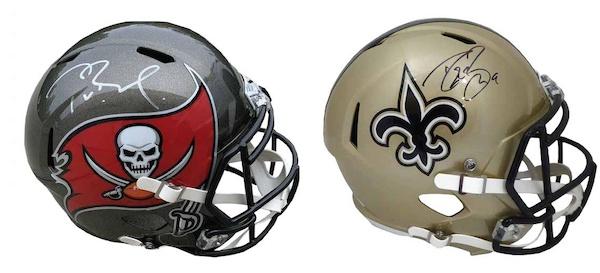 2021 Leaf Autographed Football Helmet Edition 1
