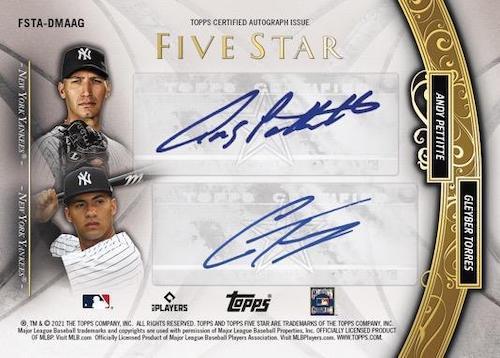 2021 Topps Five Star Baseball Cards 6